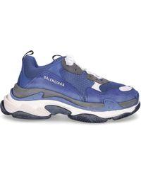 Balenciaga - Sneaker low TRIPLE S Kalbsleder Lammleder Polyester dunkelblau - Lyst