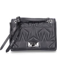 40eabc278c89 Jimmy Choo - Handbag Helia Nappa Leather Stars Embossment Logo Knitting  Black - Lyst