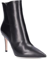 Gianvito Rossi - Ankle Boots Levy 85 Smooth Leather Black - Lyst