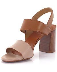 Chloé Sandals Mia nappa leather brown 2dN47EQAJ