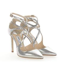 Jimmy Choo - Court Shoes Lancer 100 Leather Silver Finished - Lyst