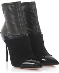 Casadei | Boots Suede And Leather Black | Lyst