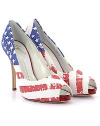 a4f662455a37 Giuseppe Zanotti - Court Shoes Textile Blue Red White-combo - Lyst