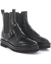 Agl Attilio Giusti Leombruni - Agl Boots Leather Black Frays - Lyst