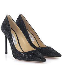 Jimmy Choo - Court Shoes Romy 100 Fabric Black - Lyst