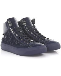 Jimmy Choo - Trainers High Argyle Patent Leather Canvas Blue Star Embalished - Lyst