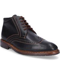 Heinrich Dinkelacker - Lace Up Shoes 5397 Calfskin Hole Pattern Black - Lyst