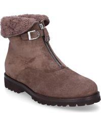 Unützer - Ankle Boots 1978 Suede Fur Upper Taupe - Lyst