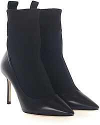 Jimmy Choo - Boots Brandon 85 Nappa Leather Stretch Black - Lyst