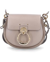 Chloé - Women Handbag Tess S Leather Grey - Lyst 0cd226be34