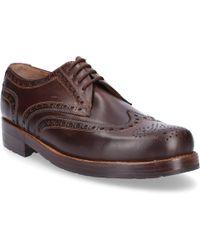 Heinrich Dinkelacker - Business Shoes Oxford 3087 Calfskin Hole Pattern Brown - Lyst