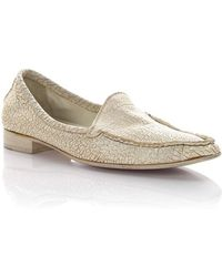 Henry Beguelin - Moccasins Leather White Used Look - Lyst