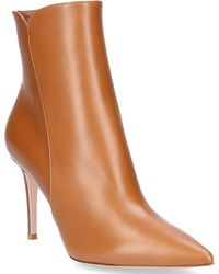 Gianvito Rossi - Ankle Boots Levy 85 Smooth Leather Brown - Lyst