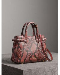 Burberry - The Small Banner In Python - Lyst