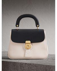 Burberry - The Medium Dk88 Top Handle Bag Natural/black - Lyst