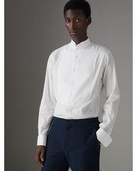 Burberry - Modern Fit Panelled Bib Cotton Silk Evening Shirt - Lyst