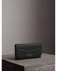 Burberry - Trench Leather Continental Wallet - Lyst