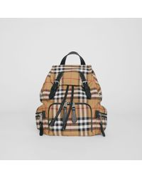 Burberry - The Small Crossbody Rucksack In Vintage Check - Lyst