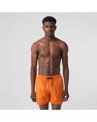 5f0054780a Burberry Guildes Checked Swim Shorts for Men - Lyst