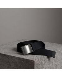 Burberry - Plaque Buckle Nylon Belt - Lyst