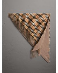 Burberry - The Bandana In Vintage Check Cashmere - Lyst