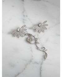 Burberry - Crystal Half-daisy Drop Earring And Stud Set - Lyst