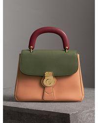 Burberry - The Medium Dk88 Top Handle Bag Pale Clementine/moss Green - Lyst
