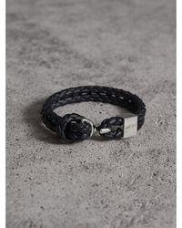 Burberry - Braided Leather Bracelet - Lyst