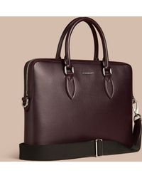 Burberry - The Slim Barrow In London Leather - Lyst