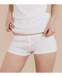 Burberry - Stretch Cotton Lyocell Boxer Briefs White - Lyst