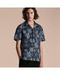 Burberry - Short-sleeved Peony Rose Print Pyjama-style Shirt - Lyst