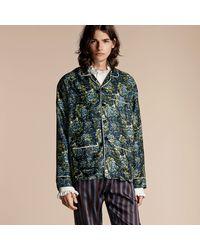 Burberry - Peony Rose Silk Twill Pyjama-style Shirt - Lyst