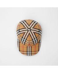 6b5e1207fd1c1 Lyst - Burberry Cotton Gabardine Bucket Hat in Natural for Men