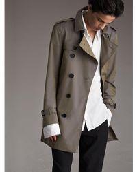 Burberry - Cotton Gabardine Trench Coat - Lyst
