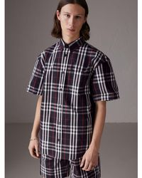 Burberry - Gosha X Short-sleeve Check Shirt - Lyst