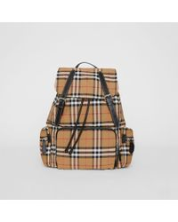 Burberry - The Large Rucksack In Vintage Check Nylon - Lyst
