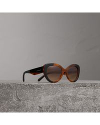 Burberry - Round Frame Sunglasses - Women | - Lyst