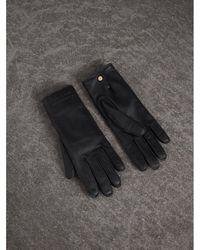 Burberry - Deerskin Gloves In Black - Women | - Lyst