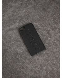 Burberry - London Leather Iphone 7 Case In Black | Burberry - Lyst