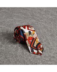 Burberry - Slim Cut Graffiti Print Silk Tie - Lyst