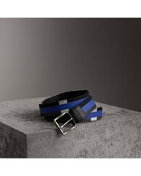 Burberry - Striped Check Jute Cotton Belt - Lyst