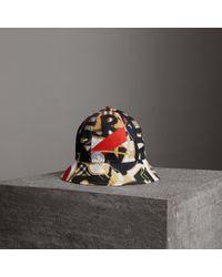 Burberry - Graffiti Scarf Print Bucket Hat - Lyst