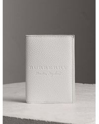 Burberry Sport - Embossed Leather Passport Holder - Lyst