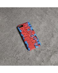 Burberry - Graffiti Print Leather Iphone 8 Case - Lyst