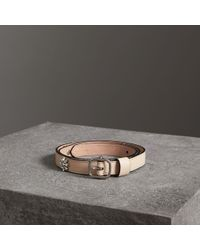 Burberry - Crystal Daisy Leather Belt - Lyst