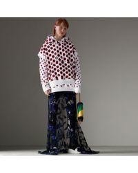 Burberry - Spot Print Sleeveless Hoodie - Lyst