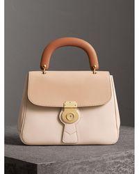 Burberry - The Medium Dk88 Top Handle Bag Limestone/honey - Lyst