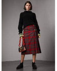 Burberry - Tartan Wool Kilt - Lyst