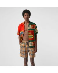 Burberry - Vintage Check Drawcord Swim Shorts - Lyst