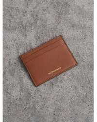 Burberry - House Check And Grainy Leather Card Case - Lyst